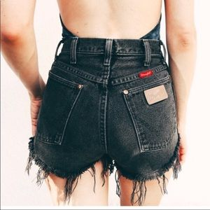 Wrangler vintage cut off shorts black 26